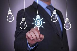 concetto di finanza astratta foto