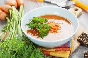 Zuppa di carote foto