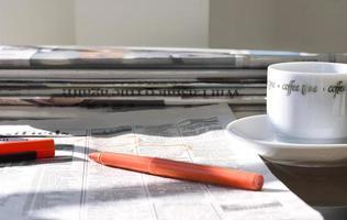 giornali del mattino foto