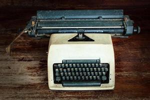 vecchia macchina da scrivere foto