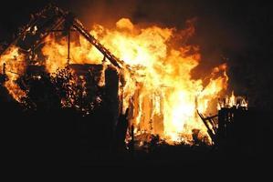 fuoco di casa foto