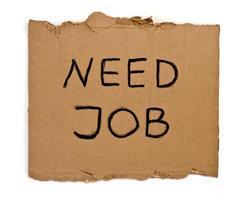 bisogno di lavoro