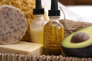 trattamento spa con farina d'avena di avocado