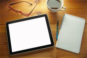tablet computer vuoto foto