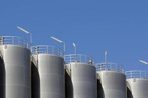 silos di stoccaggio foto