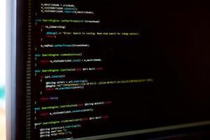 è lo schermo dello sviluppatore foto