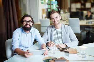 uomini d'affari di successo foto