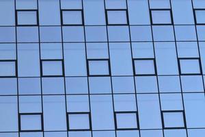 facciata moderna di vetro foto