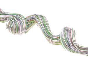 cavo di rete per computer multicolore foto