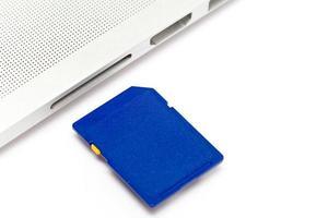 collegare la scheda SD al personal computer foto