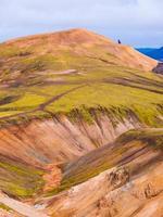 landmannalaugar montagne arcobaleno colorato foto