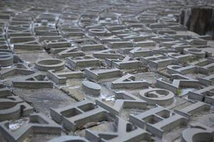 lettere greche in metallo foto