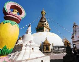 swayambhunath stupa - kathmandu - nepal foto