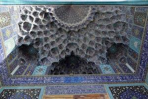 soffitto della moschea imam (shah) in piazza naqsh-e jahan, esfahan foto