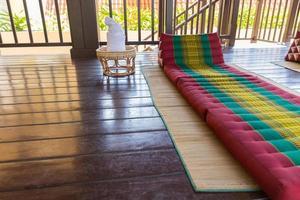materasso tradizionale thailandese per massaggio termale foto