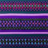 Fine variopinta della superficie del tappeto di stile peruviano africano su foto