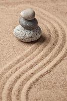 giardino giapponese in pietra zen