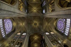 soffitto della cattedrale - parigi, francia foto