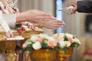 matrimonio tailandese della cultura di cerimonia di nozze. - (attenzione selettiva)