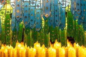 Lanterne tailandesi nordiche di stile a Loi Krathong