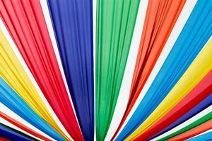 tessuto colorato foto