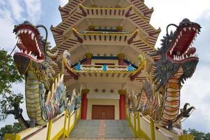 pagoda all'isola di kemarau, Palembang, Indonesia