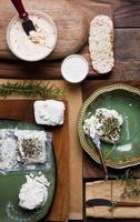 impostazione di formaggio biologico foto