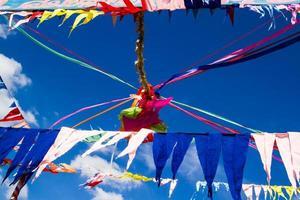 bandiere di decorazione buddista foto