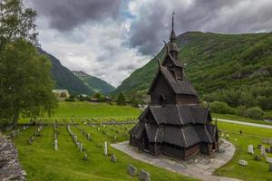 borgund stave church, norvegia foto
