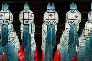 lanterne nel festival di yee-peng, chiangmai Tailandia
