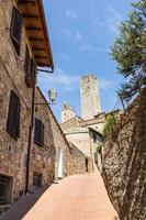 torri del centro storico di san giminiano, toscana, italia