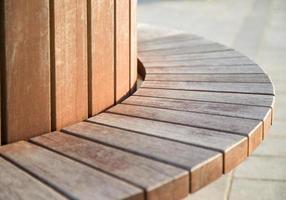 Panchina di legno foto