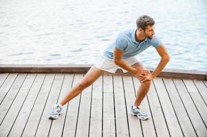 esercizi di stretching. foto