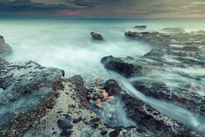 tramonto di bellezza a valencia, spagna foto