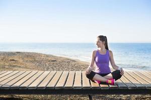 allenamento in spiaggia