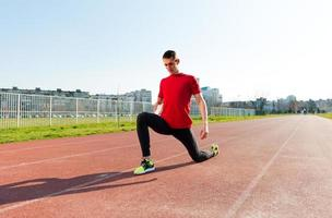 riscaldamento e stretching dell'atleta