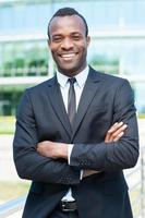 uomo d'affari sicuro e di successo. foto