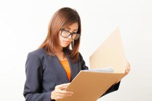 donna che lavora asiatica foto