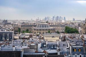 jardin nelson mandela ha coperto il mercato con l'orizzonte di Parigi foto