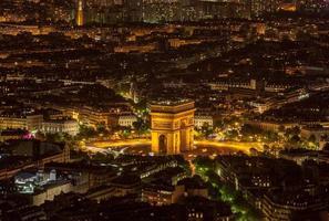 coppie di notte - veduta aerea foto