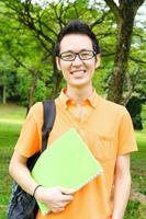 studente universitario asiatico foto
