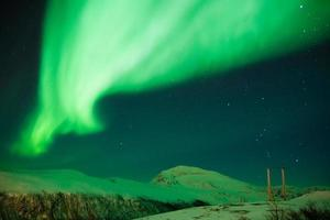 aurora boreale a tromsø foto