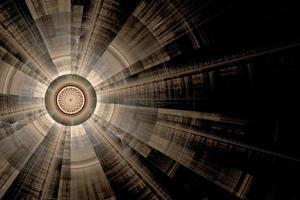 illustrazione generata da computer reso frattale blu solare foto