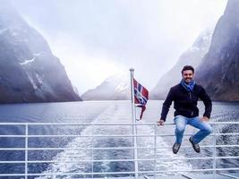 passeggiare in Norvegia foto