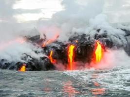 kilauea vulcano hawaii foto
