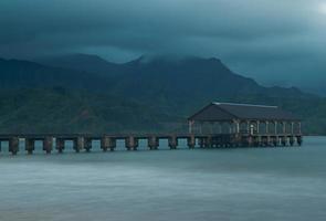 molo della spiaggia di Hanalei foto