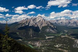 vista di banff dalla montagna di zolfo foto
