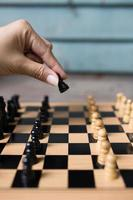 competizione di scacchi foto