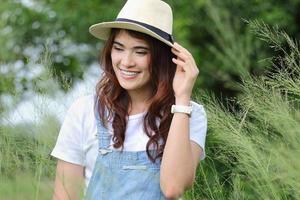 donna asiatica foto