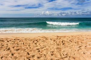 giù in spiaggia foto